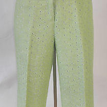 Bright Green Mag by Magaschoni Capri Pants Sz 12 Gently Used Photo