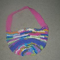 Bright Multi-Color Market Bag - Knit T-Shirt Yarn Photo