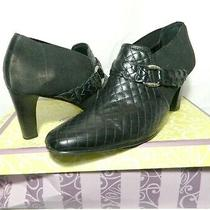 Brighton 210 Black Roman Style Booties Sz 11 M Used Photo