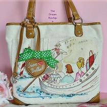 Brighton 220 Giada Bon Voyage Italy Gondola Canvas Tote Handbag Fashionista Nwt Photo