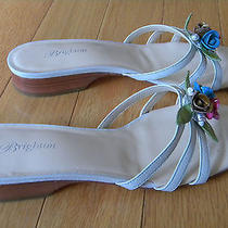 Brighton 3d Flower Sandals Sz 9  Fun  Photo