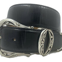 Brighton Aberdeen Croco Leather Belt Size 26    B10513 Photo