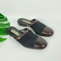 Brighton Anna Womens Leather Slip on Loafer Slides Sz 6.5 Euc Photo