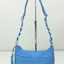 Brighton Baby Barbados Crossbody Bag Purse Hobo Bali Blue Bag Handbag Photo