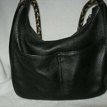 Brighton Barbados Black Leather Hobo Large Purse With Bag and in Box Photo