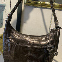 Brighton Barbados Colorful Strap Lg. Metallic  Leather  Pocket Tote Hobo Purse Photo