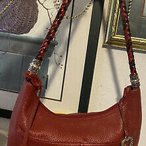 Brighton Barbados  Pocket Tote Red Leather Purse Handbag Hobo  Shoulder Bag   Photo