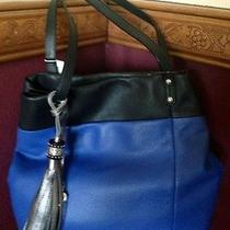 Brighton Beautiful Leather Blue and Black Purse Shoulder Bag  Photo
