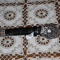 Brighton Belt - Black Croc Photo