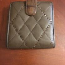 Brighton Bi Fold Wallet Clutch  Taupe Quilted Leather Photo