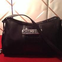 Brighton Black Croc Microfiber Hobo Shoulder Bag  Photo