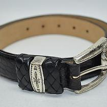 Brighton Black Croco Embossed Leather Classy Casual Belt Size Medium 30 32 Usa  Photo
