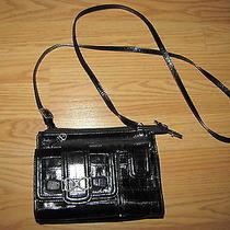 Brighton Black Crossbody Black Croc Organizer Handbag Photo