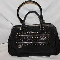 Brighton Black Fabric and Patent Leather Tote Purse Photo
