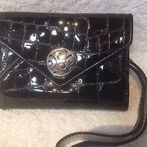 Brighton Black Genuine Patent Leather Iphone Card/case New 75 Photo