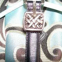 Brighton Black Leather Belt Medium Photo
