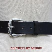 Brighton Black Leather Belt Nwot Photo