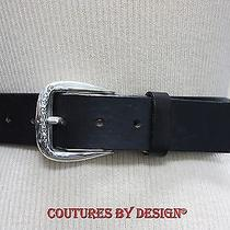 Brighton Black Leather Belt Nwot Photo