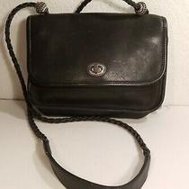 Brighton Black Leather Boho Braided Strap Handbag Purse Bag Photo