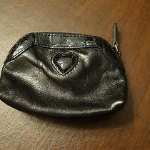 Brighton Black Leather Coin Purse W/heart Photo