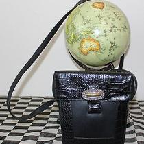 Brighton Black Leather Crossbody Bag Vintage Purse  Photo