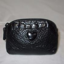 Brighton Black Leather Leather Coin Purse Ouc Photo