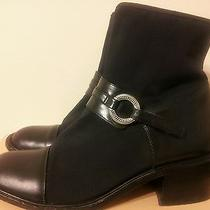 Brighton Black Leather/microfiber Ankle Boots - Lilly - Italy - 8.5 M Photo