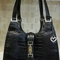 Brighton Black Leather Purse Womans Vintage A145372 Photo