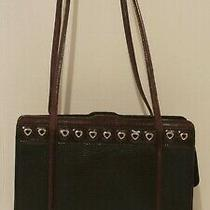 Brighton Black Leather Shoulder Bag Purse Hand Bag Photo