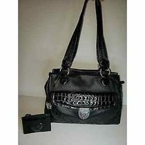 Brighton Black Leather Shoulder Bag With Coin Purse Photo
