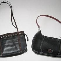 Brighton Black Leather Shoulder Handbags Purses Unique Rare Photo