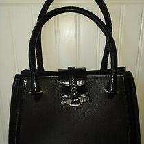 Brighton Black Leather Tote Small Photo