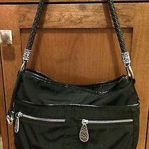 Brighton Black Microfiber Patent Leather Handbag Photo