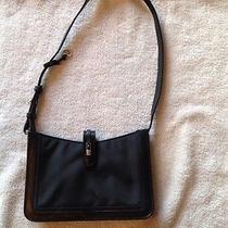 Brighton Black Microfiber With Heart Charm Handbag  Photo