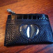 Brighton Black Pebble Grain Credit Card Id Business Card Holder Great Gift Photo