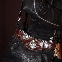 Brighton Black Pebble Leather Black Crossbody Bag Photo