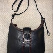 Brighton Black Pebbled Leather Shoulder Handbag Purse Photo