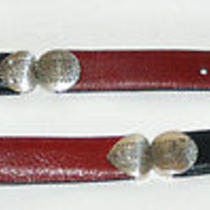 Brighton Black & Red Leather Belt Photo