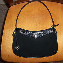 Brighton Black  Suede Purse Photo