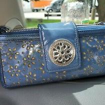Brighton Blue Leather Wallet Organizer/clutch Photo