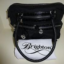Brighton Bobbi Black Microfiber Satchel (H52013) Photo