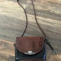 Brighton Brown Black Croc Embossed Crossbody Shoulder Purse Photo