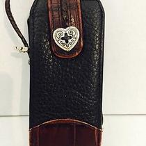 Brighton - Brown & Black Leather Cell Phone Case Holder Photo