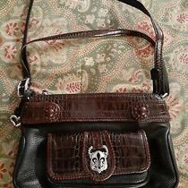 Brighton Brown Black Leather Shoulder Bag Purse Photo