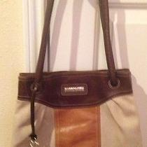 Brighton Brown Canvas With Brown Leather Trim Handbag Photo