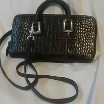 Brighton Brown Croc Alligator Leather Convertible Crossbody Shoulder Bag Wallet Photo