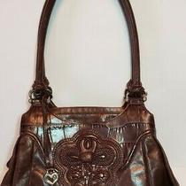 Brighton Brown Katarina Masterpiece  Collection Shoulder Handbag Pockets Galore Photo
