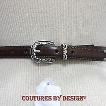 Brighton Brown Leather Belt Nwot Photo