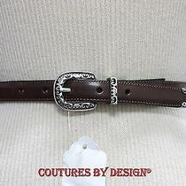 Brighton Brown Leather Belt Nwot Photo