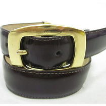 Brighton Brown Leather Gold Tone Hinge Buckle Belt Sz S Photo